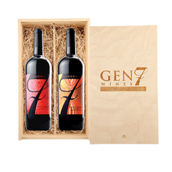 GEN 7 Engraved Double Bottle Wood Box