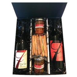 3 Bottle & Food Linen Gift Box