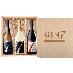 GEN 7 Engraved Three Bottle Wood Box
